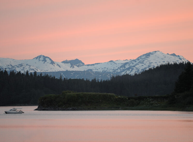 Midnight glow in Juneau