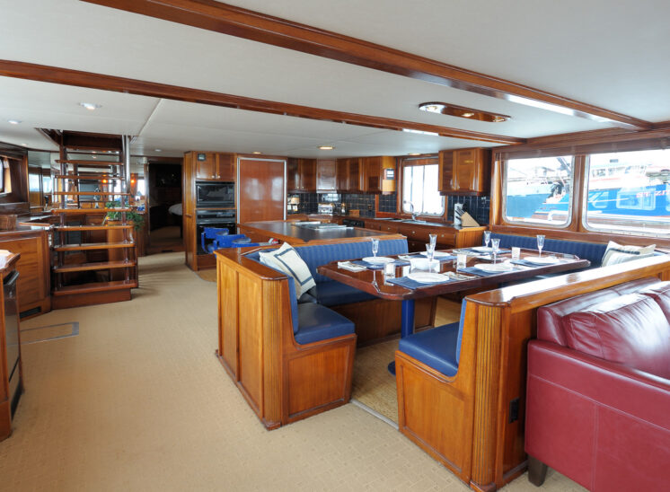 Custom steel-hull private yacht